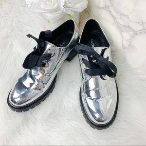 Aldo Monochrome Slip On Shoes
